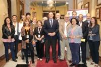 José Carlos Gómez Villamandos junto al resto de autoridades e investigadores