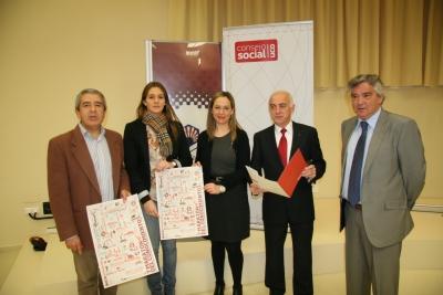 De izq a dcha, Melchor Guzmán, EStefanía Rodríguez, Belen Sánchez, Antonio Sola y Rafael Anguiano