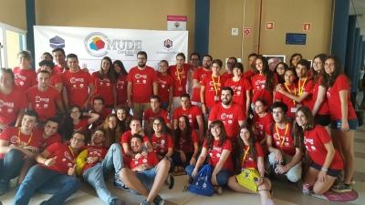 Foto de familia de todo el equipo de organización del Mundial.