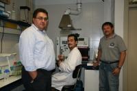 De izquierda a derecha, Manuel Ángel Amaro, José Antonio Lao y Rafael Moreno