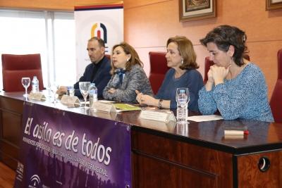 De izquierda a derecha, Antonio Jesús Rodríguez, Rosario Mérida, María Rosal y Belén Cuadrado