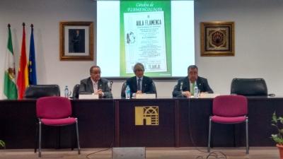 De izq. a dcha. Juan Antonio Caballero Molina, Luis Pérez Cardoso
