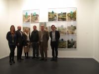 De izda. a dcha., Carolina Alarcón, Manuel Torres, Pilar Citoler, Jorge Yeregui, Alfonso de la Torre y Julio Criado en ARCO 2013.