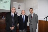 De izquierda a derecha, Diego Medina, Antonio Millán y Manuel Izquierdo, durante la presentación del curso.