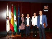 De izq. a dcha., María del Mar García Cabrera, María Teresa Roldán Arjona, Carmen Rosa García y Francisco Valverde Fernández