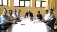 Integrantes de la Comisión de informática durante la reunión
