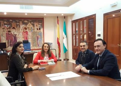 De izquierda a derecha, Inmaculada Gómez, Esther Ruiz, Alfonso Zamorano y José Carlos Gómez Villamandos