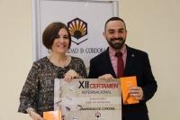 Alfonso Zamorano y Mª Carmen Liñán en la presentación del Certamen