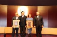 De izqda. a dcha. Desiderio Vaquerizo, José Carlos Gómez Villamandos, Ana Garrido y Enrique Quesada.