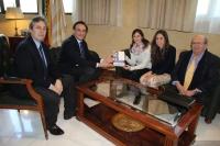De izquierda a derecha, Juan Pedro Monferrer, José Carlos Gómez Villamandos, Mª Ángeles López, Ángela López y Miguel Valcárcel