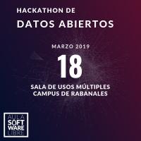 Cartel anunciador del hackathon que se celebra este lunes