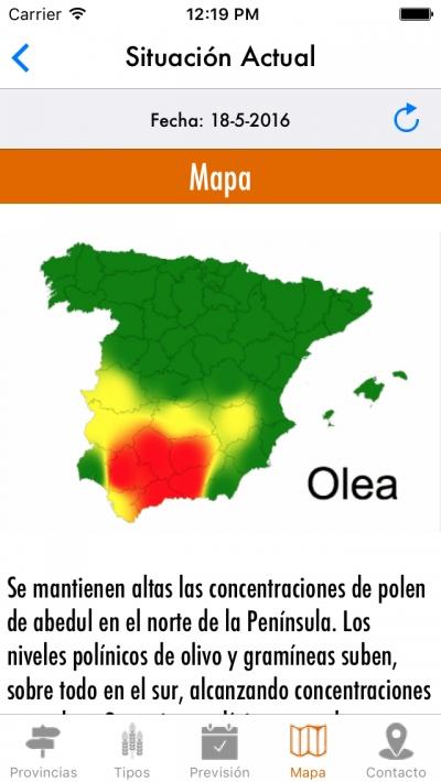 La previsión del polen, en la palma de la mano