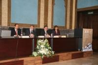 De izq a dcha Jesus Diez, Jose Manuel Roldán, Jose Naranjo y Maria del Carmen Pérez durante la apertura