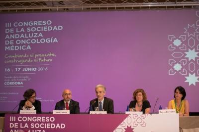 De izquierda a derecha, Juan de la Haba, Isaac Tunez Fiñana, Aquilino Alonso, Alba Mª Doblas y Reyes Bernabé.