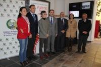Autoridades asistentes a la inauguración de las jornadas sobre la divulgación de las obras públicas