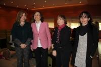 De izquierda a derecha, Rosario Mérida, Rosa Aguilar, Mercedes Osuna y Antonia Ramírez