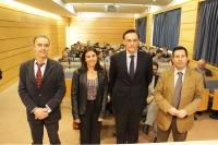 De izquierda a derecha, Juan Jesús Luna, Mª Jesús Almanzor, José Carlos Gómez Villamandos y José Ignacio Expósito