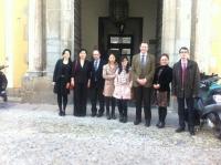 Integrantes de la delegación de universidades chinas con representantes de la Universidad de Córdoba