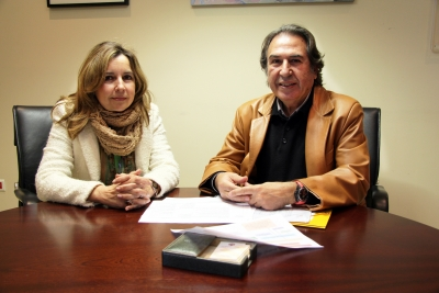 Rosario Mérida y Blas Segovia en la presentación del programa de actividades del Aula