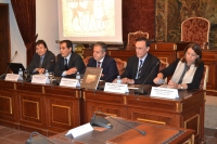 De izq a dcha Eduardo Agüera, Jose Antonio Nieto, Salvador Fuentes, Jose Carlos Gómez y Rosario Moyano