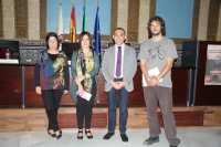 De izquierda a derecha, Esperanza Jiménez, Carmen Liñán, Alfonso Zamorano y Pablo Rabasco antes de la lectura.