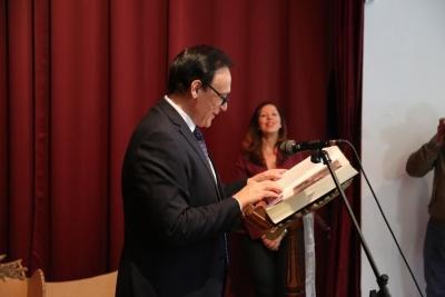 El rector durante la lectura