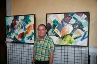 Manuel Moreno expone en el Rectorado ' Cromatismos', una muestra de sus últimas obras