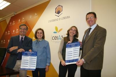 De izq. a dcha. Eduardo Moyano, Mª Dolores Muñoz Dueñas, Carmen Blanco y Eulalio Fernández