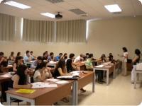 Reunión de estudiantes Erasmus en el Rectorado