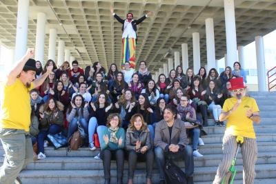 Presentación de Circuni frente a la Facultad de Ciencias de la Educación