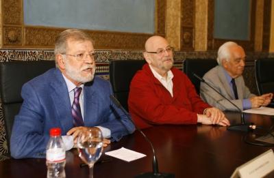 De izquierda a derecha, Juan Carlos Rodríguez, Miguel Rojas y Jorge Brovetto