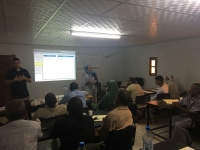 Una de las clases desarrolladas en los centros de Formación Profesional de los Campos de Refugiados Saharauis de Tinduf