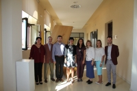 Nuria Magaldi y Carlos García junto a representantes de universidades rusas