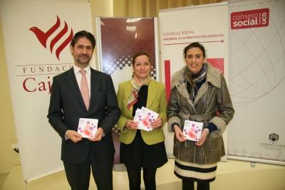 DE izq. a dcha. Angel Cañadillas,Anabel Carrillo y Maria Teresa Sánchez