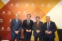 De izda. a dcha. Antonio Cubero Atienza, José Carlos Gómez Villamandos, Rafael Ruiz Calatrava y Bartolomé Beltrán