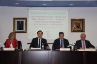 De izquierda a derecha, Julia Muñoz, José Carlos Gómez Villamandos, Julio Samuel Coca y Jesús Cruz.