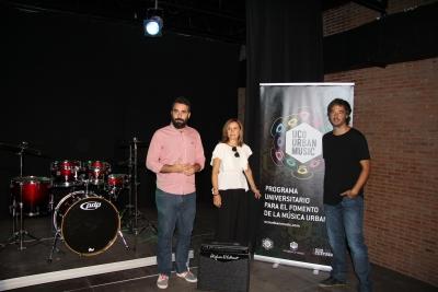 De izqda. a dcha., Pablo Rabasco, Alberto Mayoral y Rosario Mérida