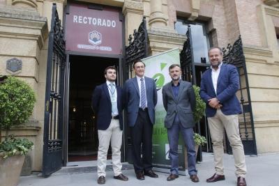 De izquierda a derecha, Manuel Barrera, José Carlos Gómez, José Fiscal y Francisco Algar