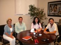 De izq. a dcha. Carmen Galán, Andreas Dyonissiou, Myrianthi Astanioti, y Antonio Gomera