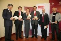 De izq a dcha Fernando López Mora, Javier  Corbalán, Anabel Carrillo, Jose Carlos Gómez, Rafael Rabadán y Miguel Gómez