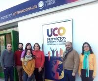 Foto de familia de los miembros de la Oficina de Proyectos Internacionales