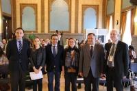 Autoridades asistentes a la jornada celebrada en el Rectorado