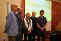 De izda. a dcha., Alfonso de la Torre, Manuel Torres, Pilar Citoler, Rafael Ortiz y Jorge Yeregui antes de dar a conocer el fallo del jurado.