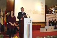 El rector de la Universidad de Córdoba, durante su intervención en el acto de entrega de premios.