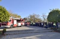 Un momento del simulacro de evacuación