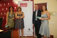 De izq a dcha:Ana Maria Saravia, Mercedes Mayo,Francisco García Calabrés y Anabel Carrillo