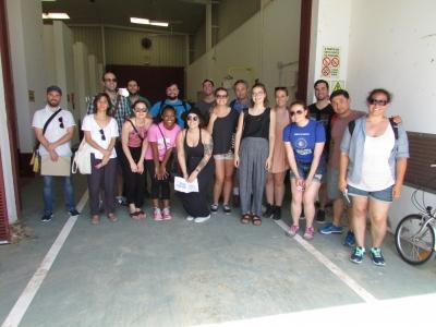 Foto de familia del grupo de estudiantes de la VCU que han visitado la  Universidad de Córdoba