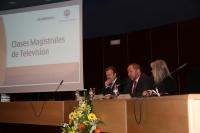 De izquierda a derecha, Manuel Campo Vidal, Manuel Torralbo y Mar Arteaga