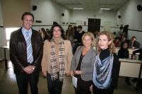 De izqda. a dcha., Eulalio fernández, Carmen Balbuena, Carmen Blanco y Ana Rojo