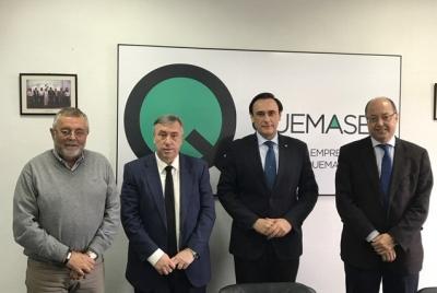 De izquierda a derecha, Rafael Rodríguez, José Carlos Gómez Villamandos, José Antonio Piedra y Antonio Cubero.